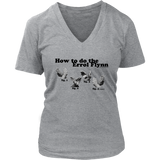 How to do the Errol Flynn Womens V-neck T-shirt