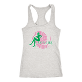 Ladylike Women's Racerback Tank Top-Pink and Green