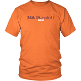The Blackfokapparel Definition Navy Logo Orange T-Shirt