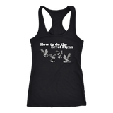 How to do the Errol Flynn Womens Racerback Tanktop
