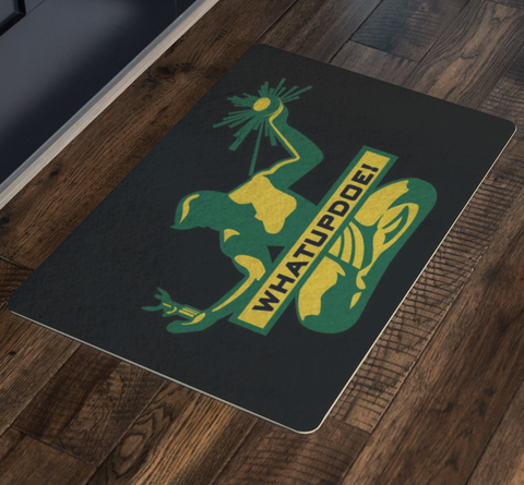 Whatupdoe Detroit Spirit of Detroit Doormat