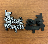 I root for black people soft enamel pin front and back