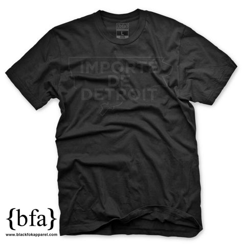 Importe de Detroit T-Shirt Black on Black