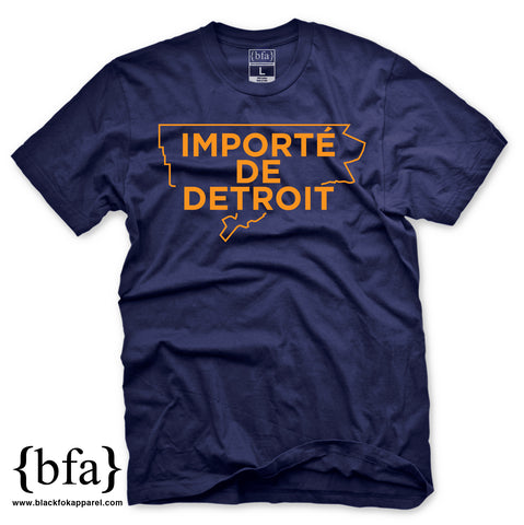 Importe de Detroit Navy Orange T-shirt