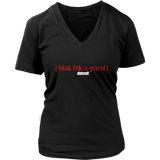 The Blackfokapparel Definition Red Logo Black Women's V-Neck T-Shirt