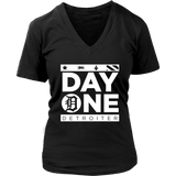 Day One Detroiter Womens V-neck T-shirt