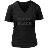 Shop Black V-Neck Womens T-Shirt