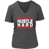 Hustle Hard Women's V-Neck T-shirt