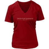 Tha Truth blackfokapparel Red Women's V-neck T-shirt