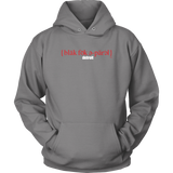 The Blackfokapparel Definition Red Logo Grey Hoodie