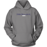 The Blackfokapparel Definition Navy Logo Grey Hoodie
