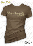 Unapologetically Black Ladies T-Shirt - Brown