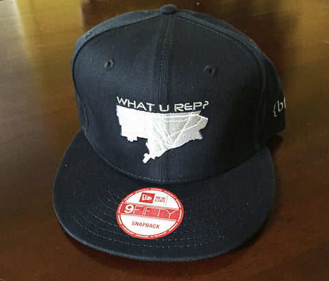 What U Rep? Navy Limited Edition Snapback Hat