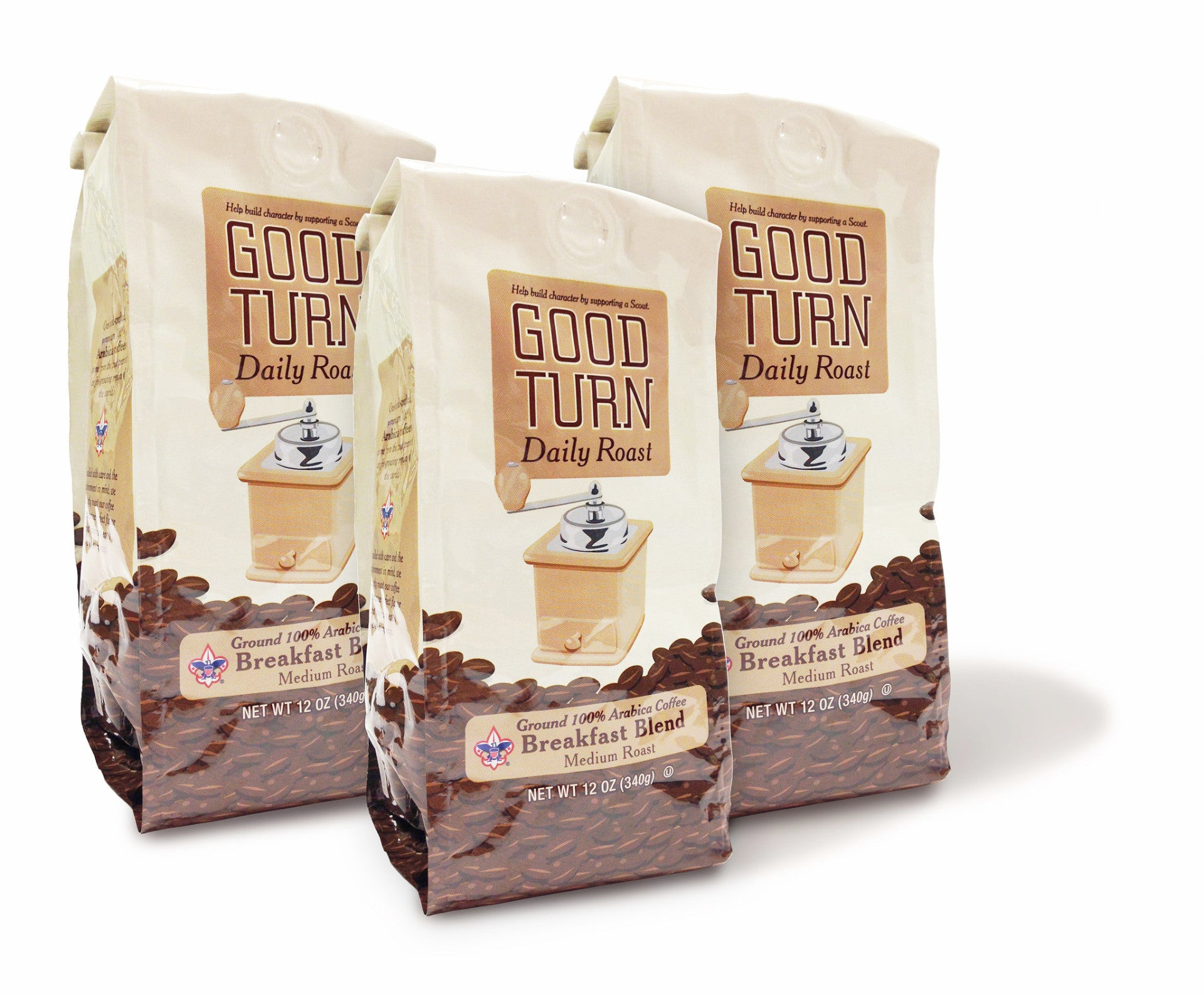 Good Turn Daily Ground Breakfast Blend (Three Bags)