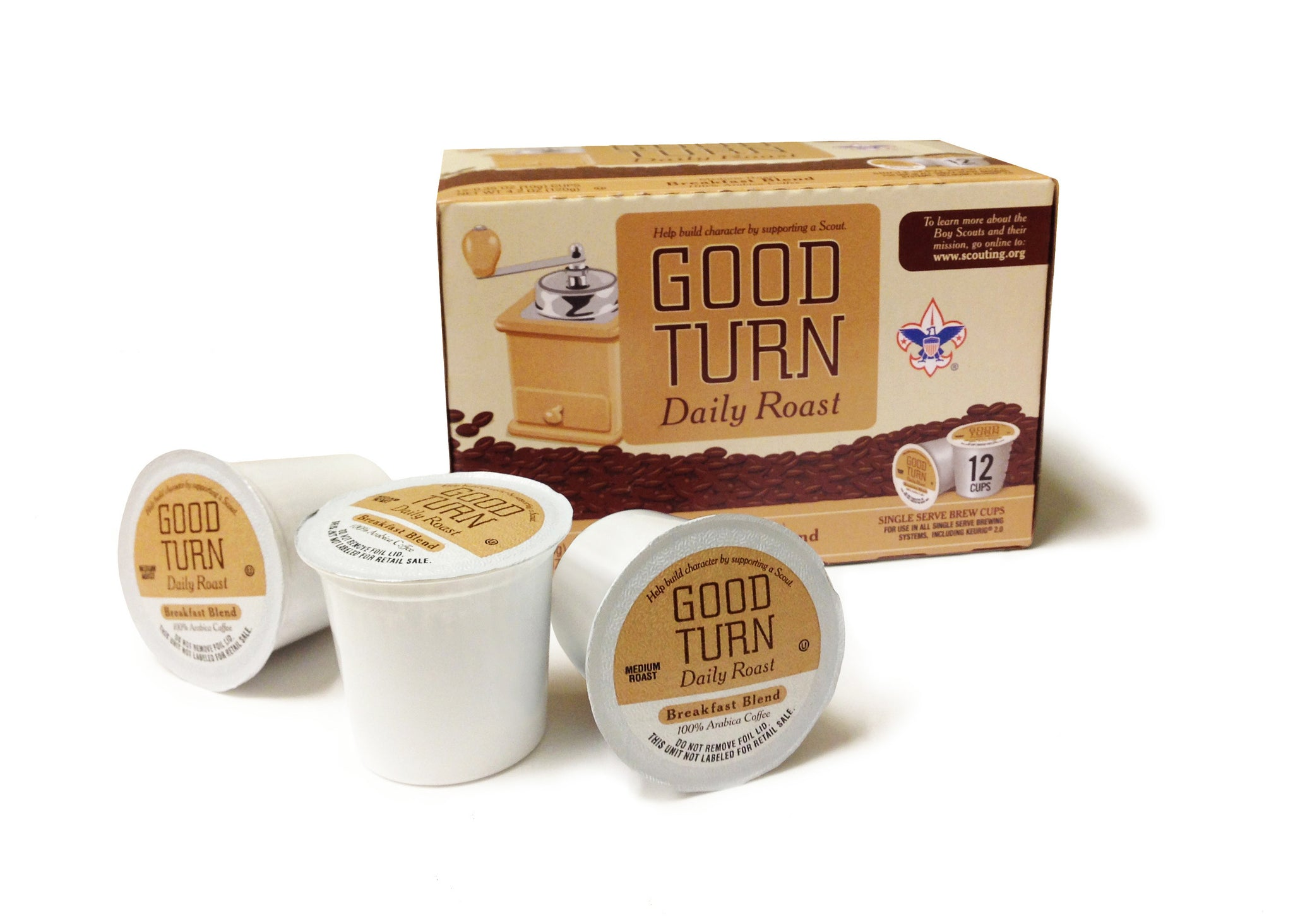 Good Turn Daily K-Cups 136 Boxes