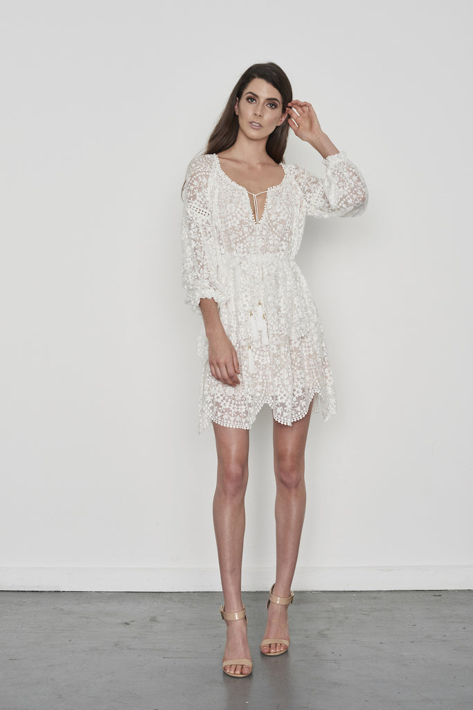 Gossamer Scallop Short Dress