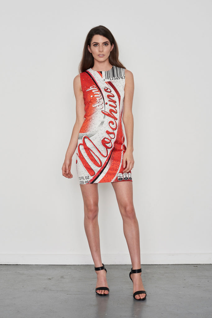Soda Can Logo Print Dress