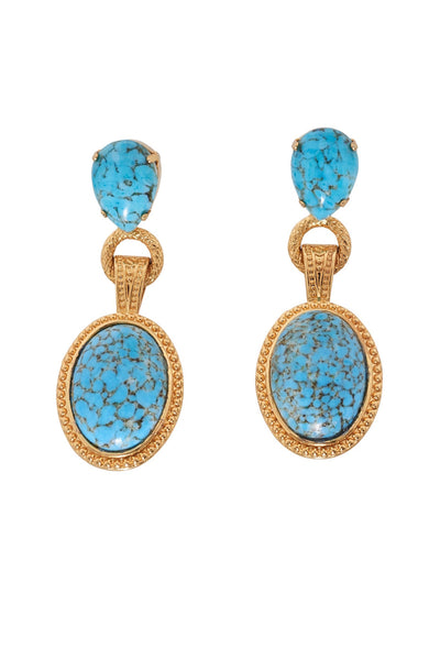 Turquoise & Gold Earrings