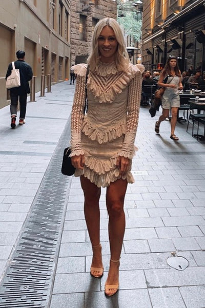 Hire Zimmermann Battenburg Mini Dress