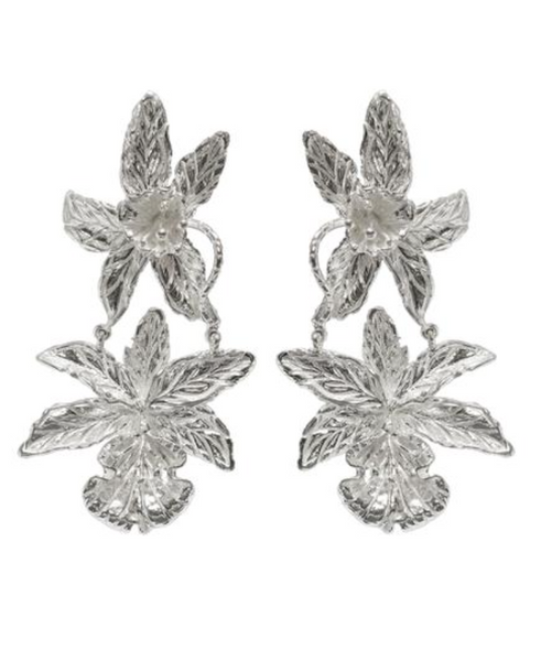 Christie Nicolaides Abella earrings in silver.