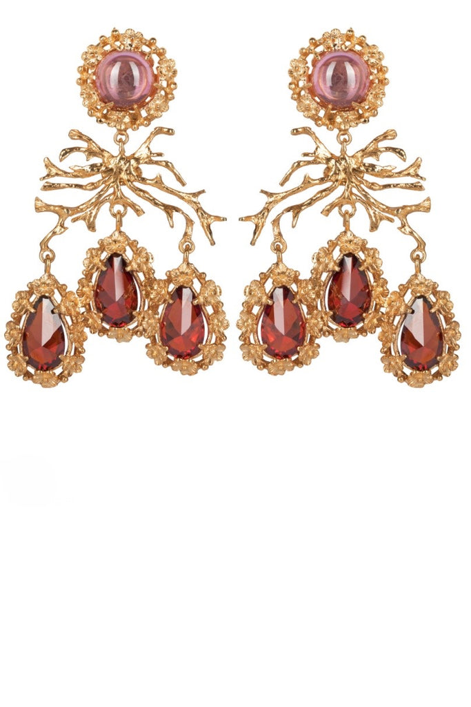 Christie Nicolaides Corallo Earrings Red and Pink