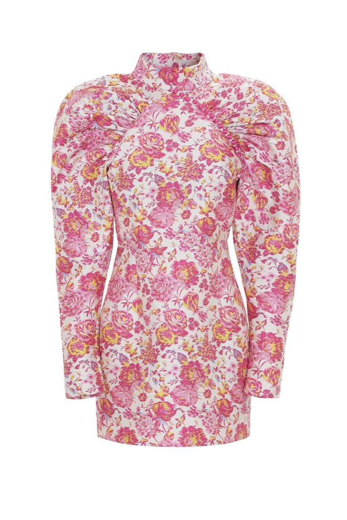 Number 1 Rose Brocade Dress