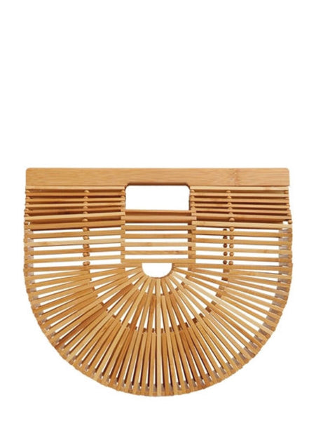 The original semi circle wooden Arc bag by designer cult gaia