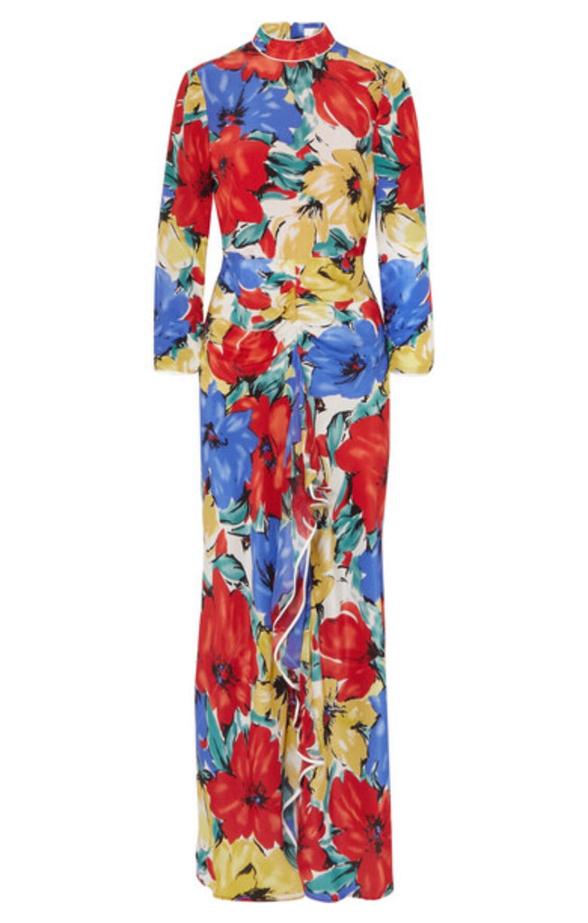 Lucy Open Back Floral Print Dress