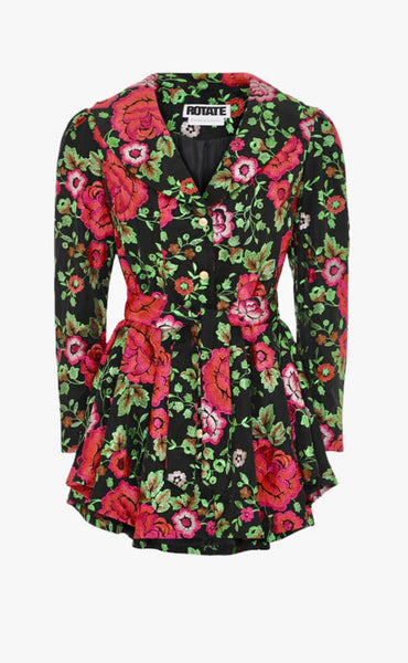 hire rotate number 9 floral blazer dress