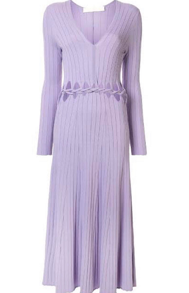 Pinnacle braid dress Violet
