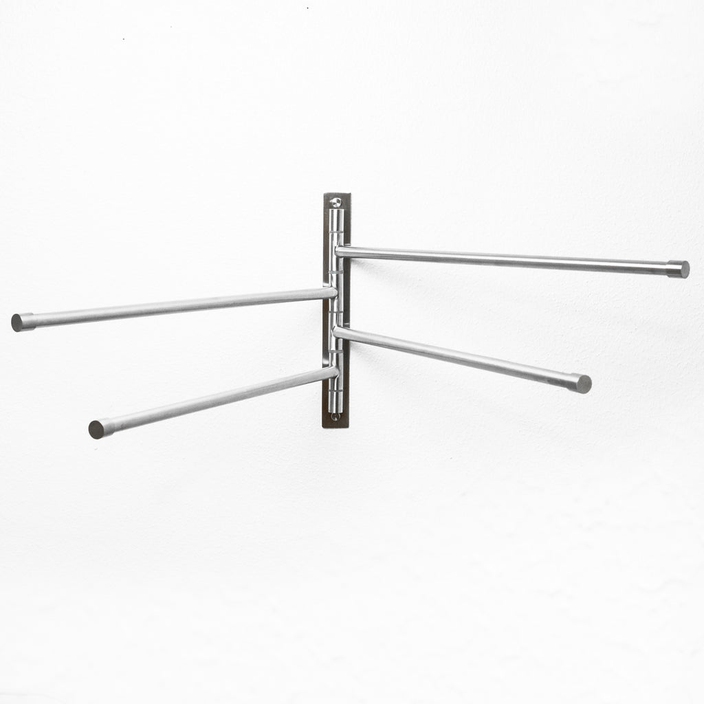 Swing Out Towel Bar - Stainless Steel Swivel Towel Rack - Space Saving Swinging Towel Bar for Bathroom - Easy To Install - Brushed Finish