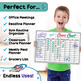 Dry Erase Magnetic Chore Chart With Markers & Eraser