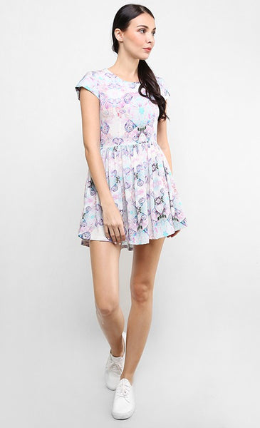 LAUGHING OWL CAP SLEEVED DRESS