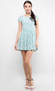 DREAMY DRAGONFLIES CAP SLEEVED DRESS