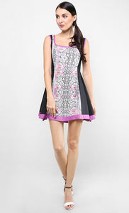 FABERGE FLORALS BLOCK DRESS