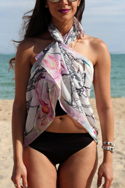 FABERGE FLORALS BEACH SARONG