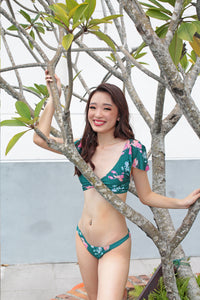 Green Goddess Ruffle-Kini