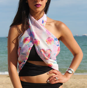 HEXAGANA BEACH SCARF
