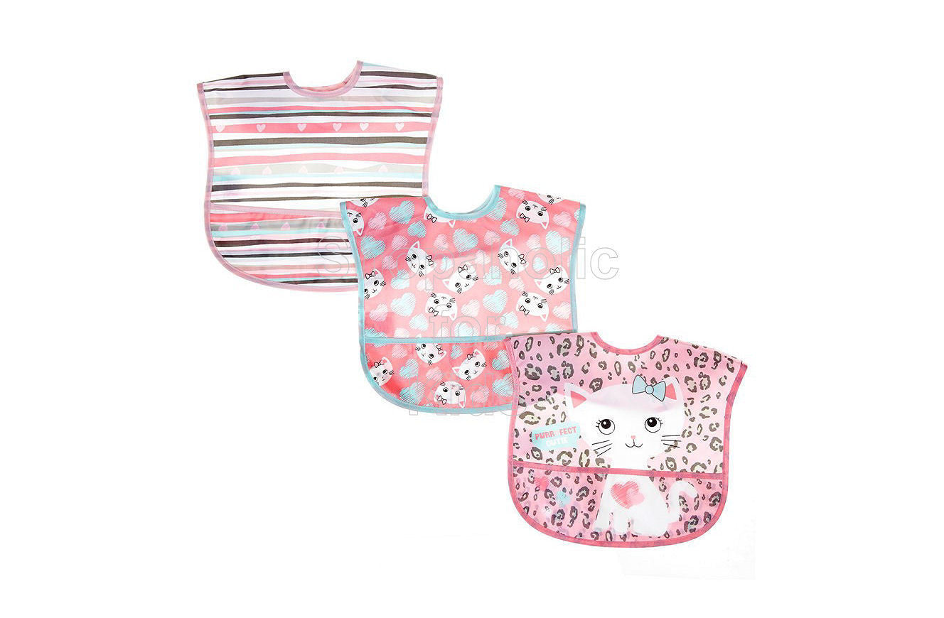 Baby Gear Purrfect Cat Bib Set 3-Pack - Shopaholic for Kids