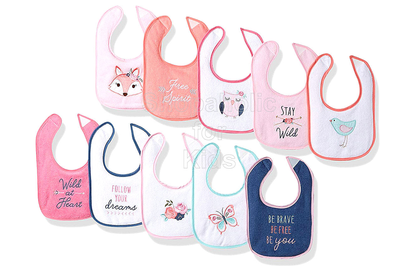 Hudson Baby Fox Drooler Bibs, Pack of 10