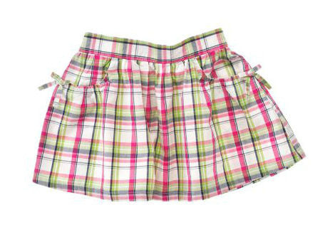 Crazy8 Bow Pocket Plaid Skirt - Shopaholic for Kids