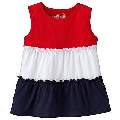 Jumping Beans Colorblock Tiered Tank - Red - Shopaholic for Kids