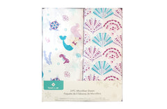 Belle 2 Piece Microfiber Sheets - Mermaid & Shells - Shopaholic for Kids