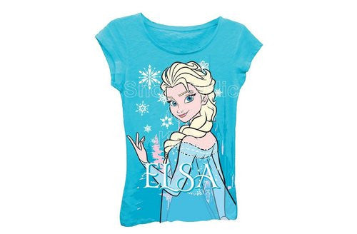 Disney Frozen Elsa Graphic Tee - Turquoise - Shopaholic for Kids