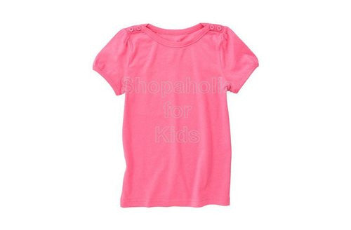 Crazy8 Button Puff Sleeve Tee - Berry Pink - Shopaholic for Kids
