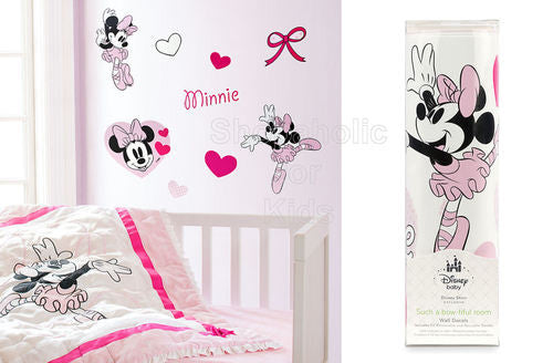 Disney Minnie Mouse Nursery Wall Decals / Wall Sticker - Shopaholic for Kids