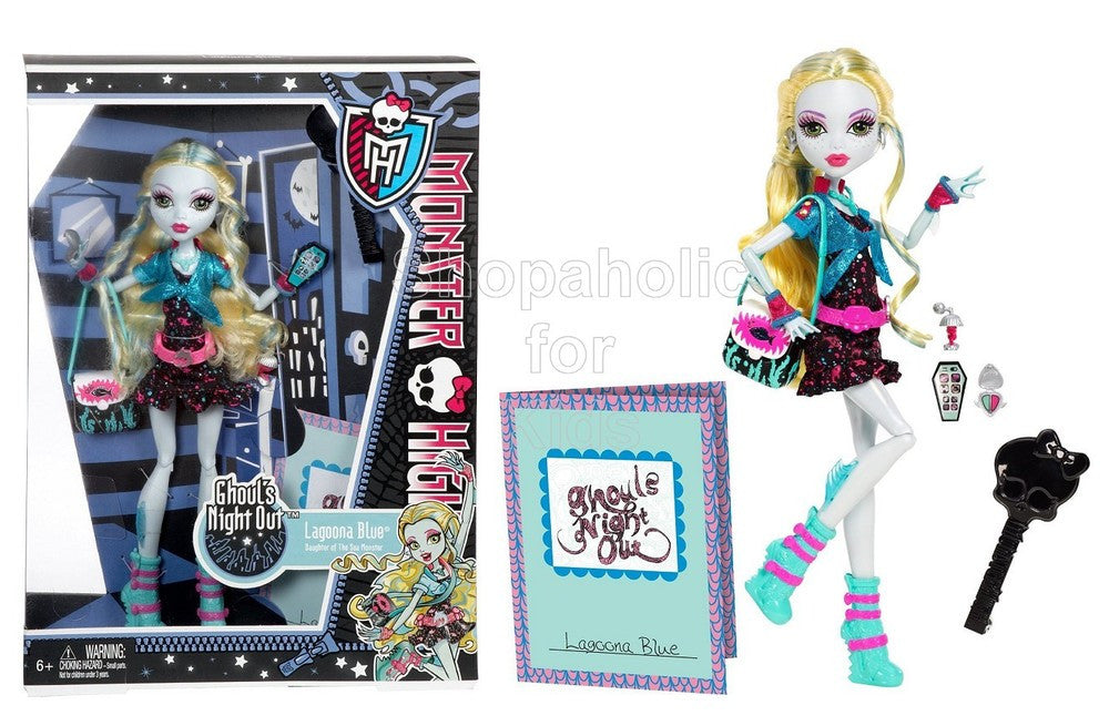 Monster High Ghouls Night Out Doll Lagoona Blue Doll - Shopaholic for Kids