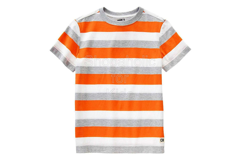 Crazy8 Logo Stripe Tee - Super Orange - Shopaholic for Kids