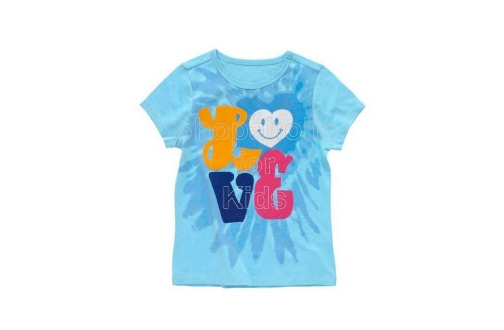 Crazy8 Love Tee Color: Seaside Blue - Shopaholic for Kids