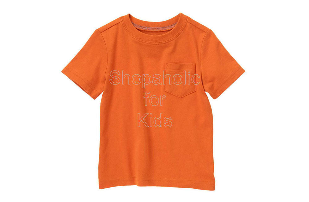 Crazy8 Pocket Tee Orange Ochre - Shopaholic for Kids